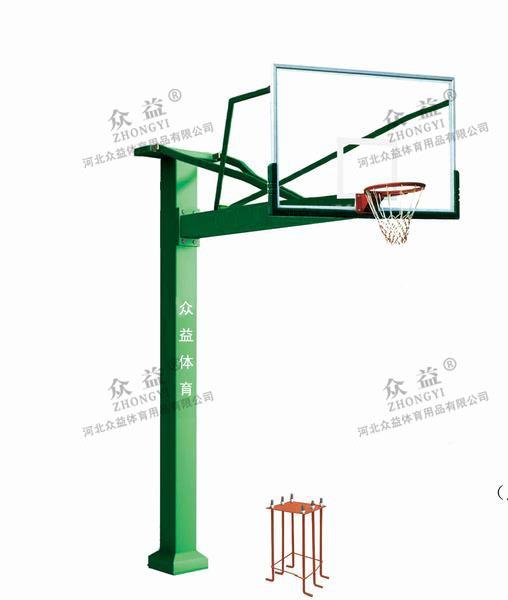 ZY-1008 固定式方管篮球架